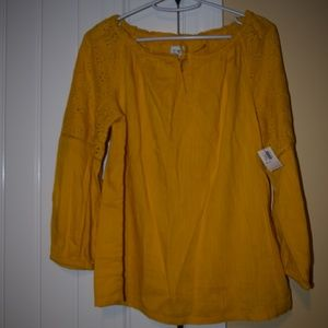 NWT Old Navy mustard long sleeve size XL (12)